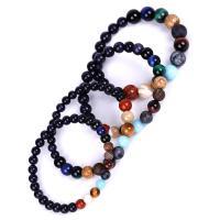 blauer Goldsand Armband, mit Edelstein, unisex & verschiedene Stile für Wahl, 5SträngeStrang/Menge, verkauft von Menge