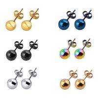 Edelstahl Ohrringe, plattiert, unisex & verschiedene Größen vorhanden, keine, verkauft von Paar