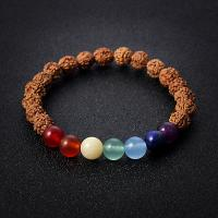 Bodhi Holzperlen Armband, plattiert, für Frau, braun, 8mm, verkauft per 7.6 ZollInch Strang
