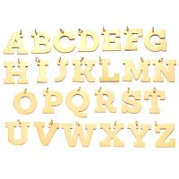 Edelstahl Brief Anhänger, verschiedene Stile für Wahl, Goldfarbe, 2PCs/Menge, verkauft von Menge
