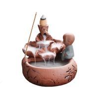 Porcelain Backflow Incense Burner, Lila Sand, verschiedene Stile für Wahl, 110x115x105mm, verkauft von PC