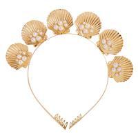 Haarreif, Zinklegierung, mit Kunststoff Perlen, verschiedene Stile für Wahl & für Frau, goldfarben, frei von Nickel, Blei & Kadmium, verkauft von PC