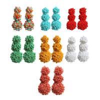 Seedbead Tropfen Ohrring, Bohemian-Stil & für Frau, keine, frei von Nickel, Blei & Kadmium, 62mm, verkauft von Paar