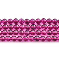 Natürliche klare Quarz Perlen, Klarer Quarz, rund, DIY & verschiedene Größen vorhanden, Granat, verkauft von Strang