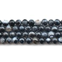 Achat Perlen, rund, poliert, DIY & verschiedene Größen vorhanden, verkauft per ca. 15 ZollInch Strang