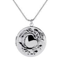 Messing Medaillon-Halskette, für Frau, keine, frei von Nickel, Blei & Kadmium, 32x32mm, verkauft per ca. 15.7 ZollInch Strang