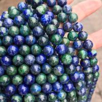 Lapislazuli Perlen, rund, poliert, verschiedene Größen vorhanden, Bohrung:ca. 1mm, verkauft von Strang
