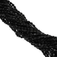 Natürliche schwarze Achat Perlen, Schwarzer Achat, plattiert, schwarz, 6x6x8mm, Bohrung:ca. 1mm, 36PCs/Strang, verkauft von Strang