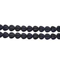 Lapislazuli Perlen, Herz, plattiert, blau, 15x14x5mm, Bohrung:ca. 1mm, 28PCs/Strang, verkauft von Strang