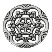 Hohle Messing Anhänger, Emaille, Silberfarbe, frei von Nickel, Blei & Kadmium, 17.50x1.50mm, 50PCs/Menge, verkauft von Menge