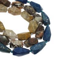 Achat Perlen, keine, 14x25mm/17x29mm, Bohrung:ca. 2mm, ca. 13PCs/Strang, verkauft von Strang