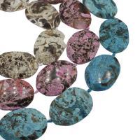 Achat Perlen, keine, 40x56x9mm, Bohrung:ca. 3mm, ca. 7PCs/Strang, verkauft von Strang
