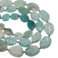 Amazonit Perlen, DIY, himmelblau, 29x35x8mm/22x27x9mm, Bohrung:ca. 2mm, ca. 15PCs/Strang, verkauft von Strang