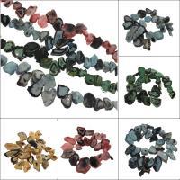 Natürliche Eis Quarz Achat Perlen, Eisquarz Achat, keine, 31x65x7mm/30x22x8mm, Bohrung:ca. 2mm, ca. 27PCs/Strang, verkauft von Strang