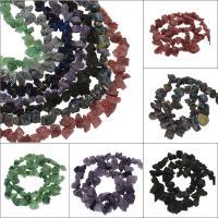 Natürliche Eis Quarz Achat Perlen, Eisquarz Achat, plattiert, keine, 23x14x12mm/17x10x6mm, Bohrung:ca. 1mm, ca. 56PCs/Strang, verkauft von Strang