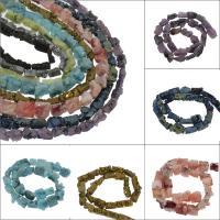 Natürliche Eis Quarz Achat Perlen, Eisquarz Achat, plattiert, keine, 14x26x9mm/10x11x7mm, Bohrung:ca. 1mm, ca. 41PCs/Strang, verkauft von Strang
