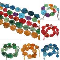 Natürliche Drachen Venen Achat Perlen, Drachenvenen Achat, keine, 34x44x8mm/22x28x6mm, Bohrung:ca. 2mm, ca. 11PCs/Strang, verkauft von Strang