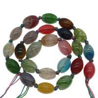 Natürliche Drachen Venen Achat Perlen, Drachenvenen Achat, farbenfroh, 13x18mm/11x15mm, Bohrung:ca. 2mm, ca. 24PCs/Strang, verkauft von Strang