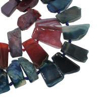 Natürliche Streifen Achat Perlen, keine, 22x46x11mm/20x31x9mm, Bohrung:ca. 2mm, ca. 23PCs/Strang, verkauft von Strang