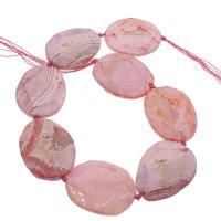 Natürliche Drachen Venen Achat Perlen, Drachenvenen Achat, Rosa, 39x52x9mm/38x48x8mm, Bohrung:ca. 3mm, ca. 8PCs/Strang, verkauft von Strang