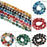 Achat Perlen, verschiedenen Materialien für die Wahl, 15x19x11mm/13x15x10mm, Bohrung:ca. 2mm, ca. 22PCs/Strang, verkauft von Strang