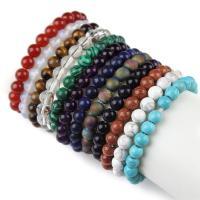 Edelstein Armbänder, rund, verschiedenen Materialien für die Wahl & unisex, 8mm, verkauft per ca. 7.5 ZollInch Strang