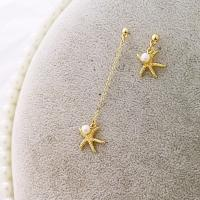 Zinklegierung asymmetrische Ohrringe, mit Kunststoff Perlen, plattiert, verschiedene Stile für Wahl & für Frau, goldfarben, frei von Nickel, Blei & Kadmium, 70mm, verkauft von Paar