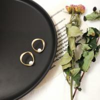 Zinklegierung Ohrringe, mit Natürliche kultivierte Süßwasserperlen, plattiert, verschiedene Stile für Wahl & für Frau, 20mm, verkauft von Paar