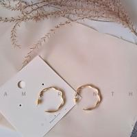 Zinklegierung Ohrstecker, plattiert, für Frau, goldfarben, frei von Nickel, Blei & Kadmium, verkauft von Paar