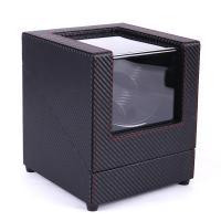 PU Leder mit MDF & Glas & Zinklegierung, drehbare & elektronisch, schwarz, 180x180x200mm, verkauft von PC