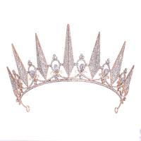 Krone, Zinklegierung, plattiert, für Braut & mit Strass, keine, frei von Nickel, Blei & Kadmium, 270x75mm, verkauft von PC