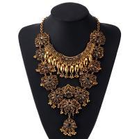 Kristall Zinklegierung Halskette, mit Kristall, plattiert, für Frau, goldfarben, verkauft von Strang