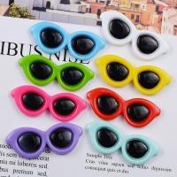 Handy DIY Kit, Harz, Brille, Einbrennlack, keine, 16x41mm, 50PCs/Menge, verkauft von Menge