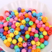 Kunststoffperlen, Kunststoff, plattiert, DIY & verschiedene Größen vorhanden, gemischte Farben, 500/Tasche, verkauft von Tasche
