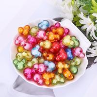 Perlen in Perlen Acrylperlen, Acryl, plattiert, DIY, gemischte Farben, 22mm, 500G/Tasche, verkauft von Tasche