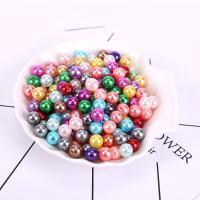 ABS-Kunststoff-Perlen Perle, plattiert, verschiedene Größen vorhanden, gemischte Farben, 500G/Tasche, verkauft von Tasche