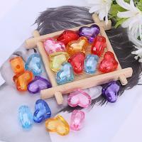 Perlen in Perlen Acrylperlen, Acryl, Herz, plattiert, verschiedene Größen vorhanden, gemischte Farben, 500G/Tasche, verkauft von Tasche
