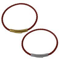 Nylonschnur Armbänder, Edelstahl Bajonettverschluss, plattiert, für Frau, keine, 30x6.5mm,3mm, Länge:ca. 7.5 ZollInch, 15SträngeStrang/Menge, verkauft von Menge