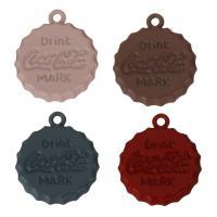 Zink-Legierung-Emaille-Anhänger, Zinklegierung, keine, frei von Nickel, Blei & Kadmium, 21.50x24.50x3.50mm, Bohrung:ca. 2mm, 50PCs/Menge, verkauft von Menge