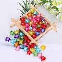 Perlen in Perlen Acrylperlen, Acryl, Stern, plattiert, verschiedene Größen vorhanden, gemischte Farben, 500G/Tasche, verkauft von Tasche