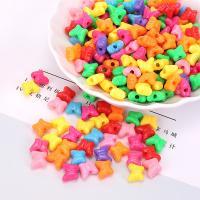 Kunststoffperlen, Polystyrol, plattiert, DIY, gemischte Farben, 12mm, 500G/Tasche, verkauft von Tasche