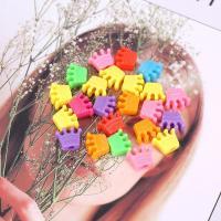 Kunststoffperlen, Polystyrol, Krone, plattiert, DIY, gemischte Farben,  13*10mm, 500G/Tasche, verkauft von Tasche