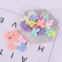 Acryl Schmuck Perlen, Schmetterling, plattiert, gemischte Farben,  16*22mm, 500G/Tasche, verkauft von Tasche