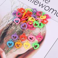 Polystyrol Anhänger, Herz, plattiert, gemischte Farben,  15*20mm, 500/Tasche, verkauft von Tasche