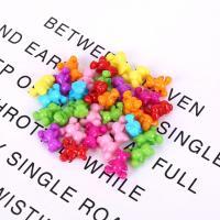 Acryl Schmuck Perlen, Bär, plattiert, DIY, gemischte Farben,  10*14mm, 500G/Tasche, verkauft von Tasche