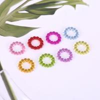 Acryl Verbindungsring, plattiert, DIY, gemischte Farben,  14mm, 500G/Tasche, verkauft von Tasche