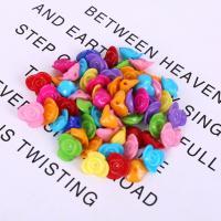 Acryl Schmuck Perlen, Blume, plattiert, DIY, gemischte Farben,  14mm, 500G/Tasche, verkauft von Tasche