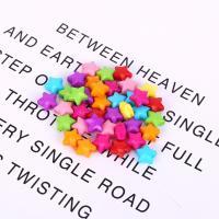 Acryl Schmuck Perlen, Stern, plattiert, DIY, gemischte Farben,  12mm, ca. 1420PCs/Tasche, verkauft von Tasche