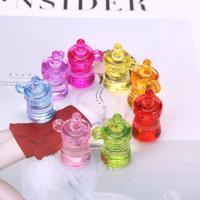 Acryl Anhänger, Saugflasche, plattiert, gemischte Farben,  21*34mm, 500G/Tasche, verkauft von Tasche