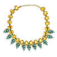 Kristall Zinklegierung Halskette, mit Kristall, mit Verlängerungskettchen von 7cm, plattiert, für Frau & mit Strass, keine, frei von Nickel, Blei & Kadmium, verkauft per ca. 15.36 ZollInch Strang
